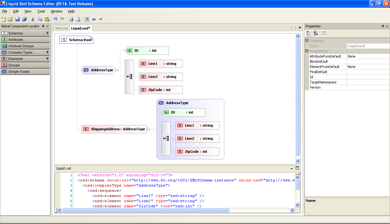 Liquid XML Studio Screen Shot